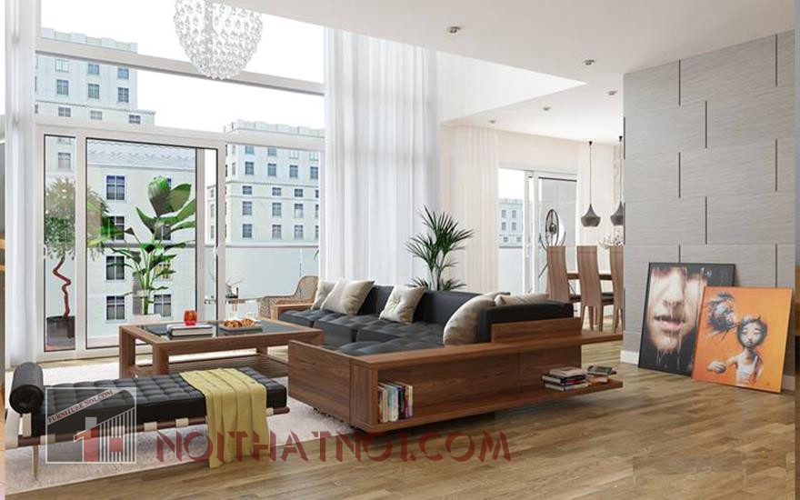 mẫu sofa gỗ đẹp hiện đại