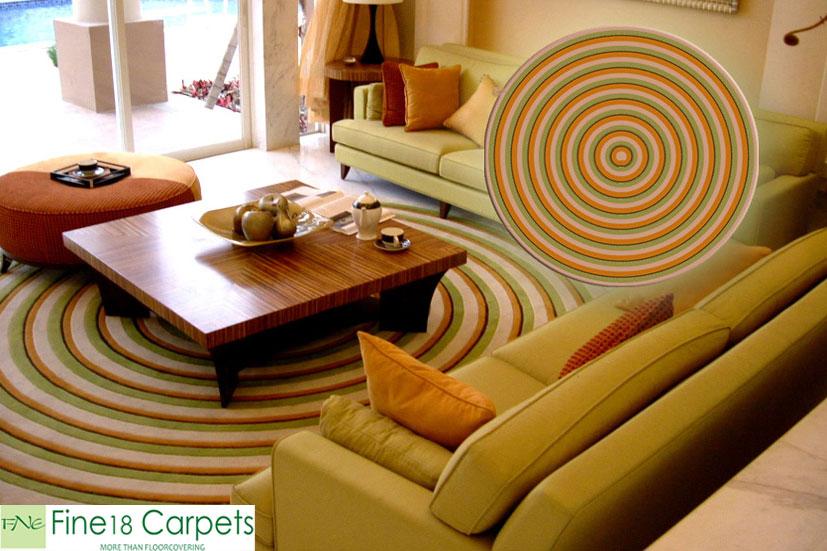 Thảm len hình tròn
