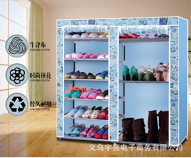 Tủ đựng giày dép 9 ngăn họa tiết