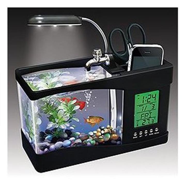 Sản phẩm bể cá phong thủy mini đèn Led sử dụng nguồn USB