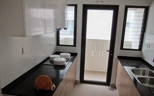 Không gian bếp chung cư