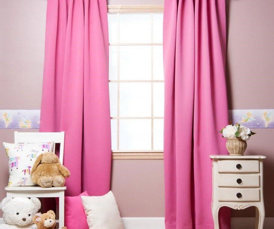 Rèm cửa mang màu hồng cho bé gái