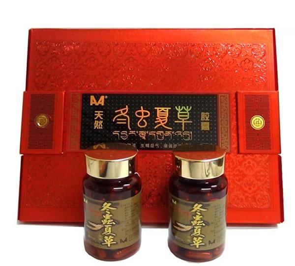 Đông trùng hạ thảo Tây Tạng viên nang hộp đỏ.