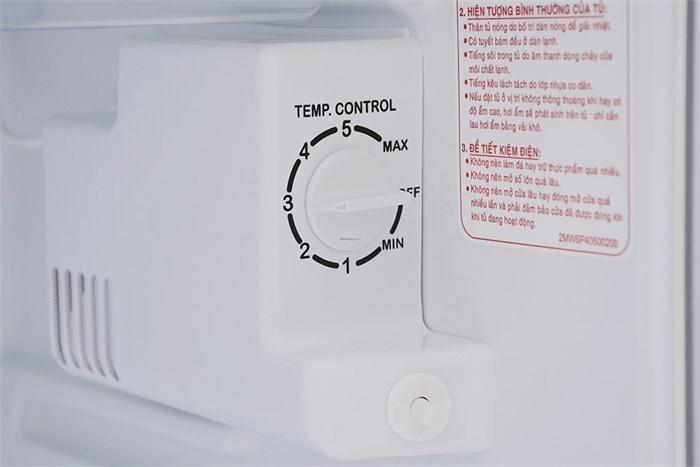 Núm điều chỉnh nhiệt độ thường được đặt ở ngăn mát của tủ lạnh