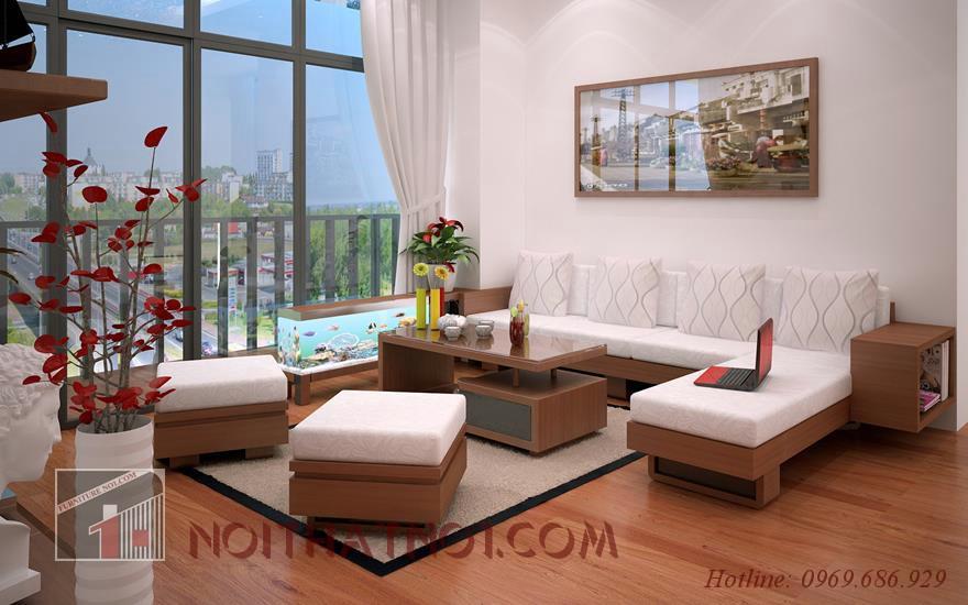 Sofa gỗ phòng khách đẹp hiện đại nhất