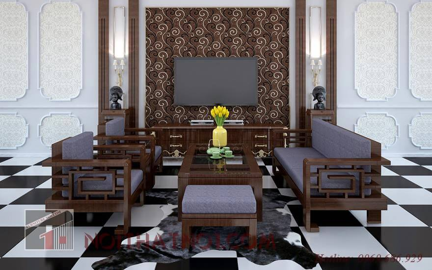 Mẫu bàn ghế sofa gỗ ấn tượng nhất