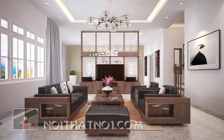 bàn ghế sofa gỗ tự nhiên cho phòng khách