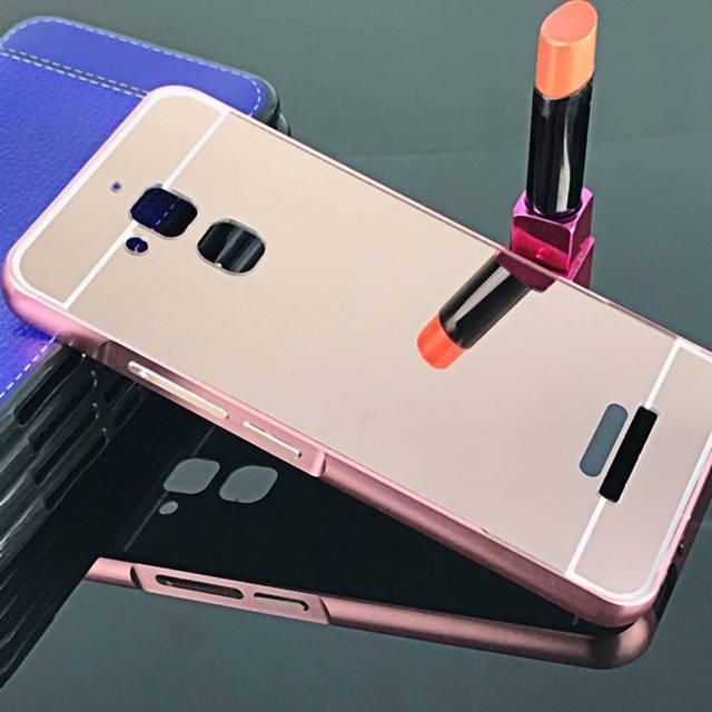 Ốp lưng điện thoại zenfone 3 max 5.5 tráng gương viền kim loại bo tròn 24K