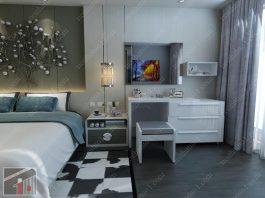 Kê bàn trang điểm phù hợp phong thủy phòng ngủ