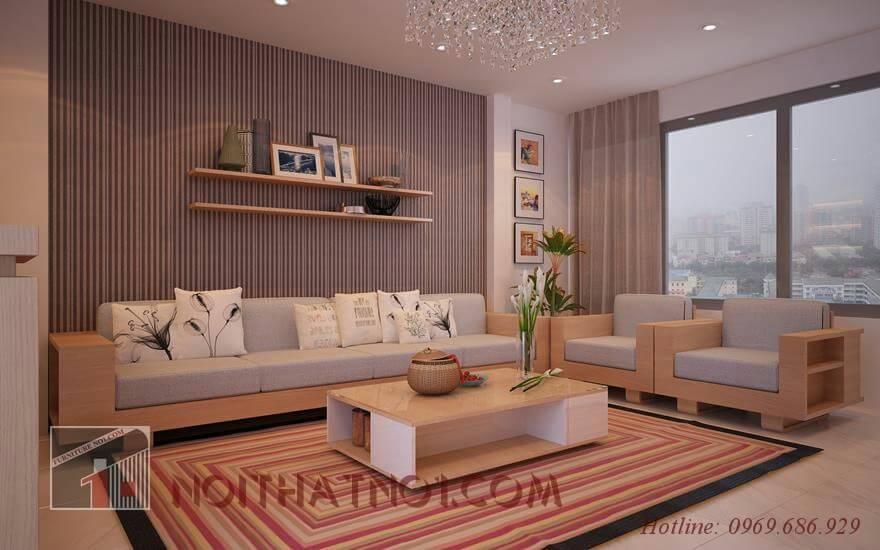 Chọn sofa gỗ nhỏ cho nhà đẹp