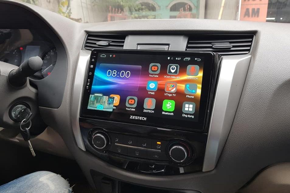 An tâm lái xe cùng đầu màn hình DVD Android xe Nissan Navara